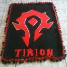 handmade fleece blanket horde from world of warcraft
