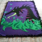 handmade fleece blanket adult size blanket of maleficent from sleeping beauty