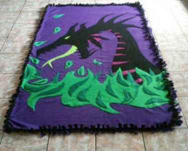 handmade fleece blanket adult size blanket of maleficent from sleeping beauty