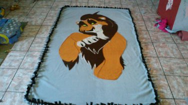 new handmade fleece blanket adult inspired scar from lion king