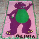 new handmade barney fleece blanket toddler size inspired barney