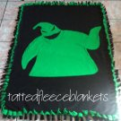 handmade fleece blanket toddler size inspired oogie boogie