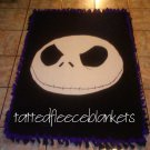 handmade fleece blankets inspired jack face from nightmare before christmas