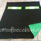 handmade fleece blanket minecraft inspired enderman twin size