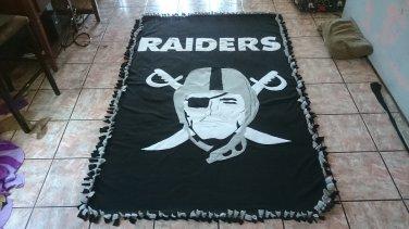 handmade fleece blanket inspired raiders adult size