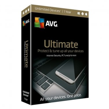 AVG Ultimate 2017 1 Yr Unlimited Devices PC/MAC/Android/iOS Download Worldwide Use