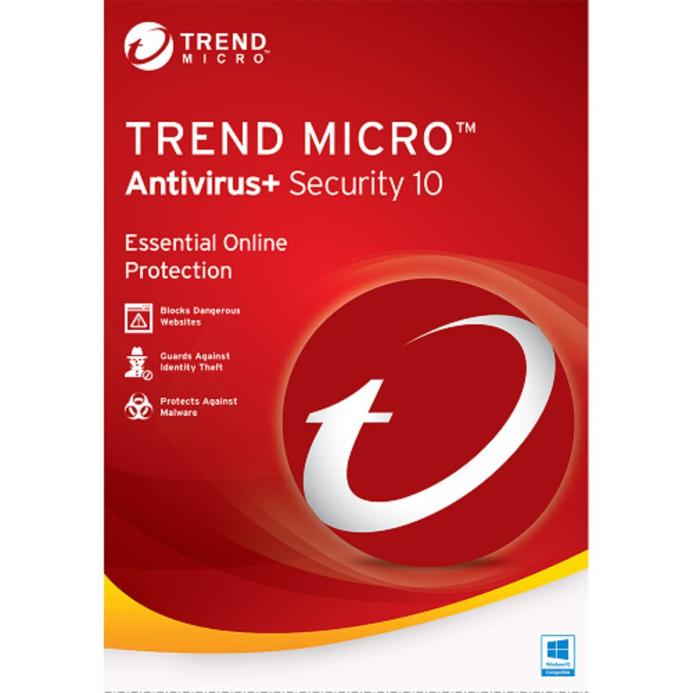 Trend Micro Antivirus 10 2017 1 Yr 1 Device Windows Only Download USA Canada MX Only