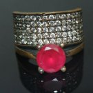 Bronze Vintage Turkish 1 Carat Ruby Ottoman Victorian Size 6 Wedding Band Ring