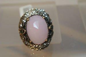 Turkish 6 Carat Pink Quartz Vintage Ottoman Victorian Bronze Size 6.5 Ring