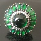 Turkish 5 Ct Round Emerald Ottoman Victorian Style 925 Silver Size 9.25 Ring