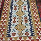 4X6 Amazing Hand Knotted Turkish Vegetable Dye Wool Oriental Rug Custom Kilim