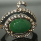 Turkish 2 Carat Emerald Size 7.5 Victorian 925 Sterling Silver Sultan Boho Ring