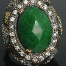 Turkish 6 Carat Emerald Size 8.5 Unisex 925 Sterling Silver Sultan Boho Ring