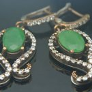 TURKISH OTTOMAN VICTORIAN 925 SILVER 2 CT EMERALD HURREM GEORGIAN EARRINGS