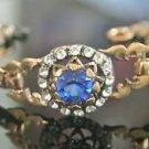 Turkish 2.0 Carat Sapphire Ottoman Victorian Style Bronze Boho Gemstone Bracelet