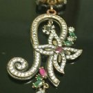 Ottoman Victorian Style 0.25 Carat Emerald 925 Sterling Silver Bohemian Pendant