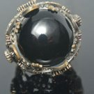 Turkish 6 Carat Onyx Ottoman Victorian 925 Sterling Silver Size 9 Unisex Ring