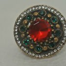 Turkish Georgian 4 Ct  Ruby CZ Handmade Bronze Size 5.5 Sultan Christmas Ring