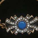 Turkish 1.5 Carat Sapphire Ottoman Victorian Style Bronze Hurrem  Bracelet