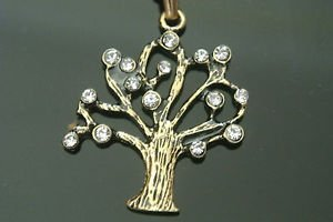 Turkish 0.07 Carat Zircon CZ Ottoman Victorian Style Bronze Life Tree Necklace