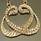 Turkish 0.03 Ct Topaz CZ Ottoman Muslim Style Bronze Double Vav Necklace