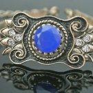 Turkish 3.0 Carat Sapphire Ottoman Victorian Style Bronze Big Gemstone Bracelet