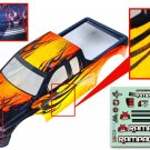 Redcat Racing  1/5 Truck Body, yellow with black flames 14050-Y