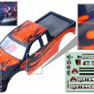 Redcat Racing 1/5 Truck Body, Orange with black flames 14050-O