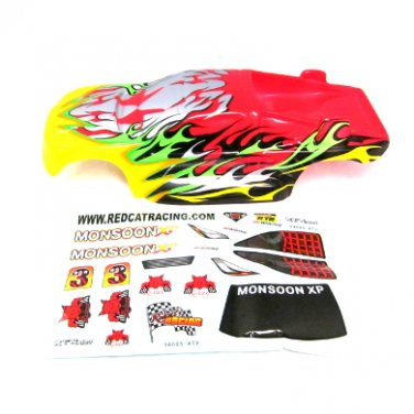 Redcat Racing Monsoon Body, Yellow and Red 94085