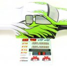 Redcat Racing 86300 1/8 Truck Body White/Green/Black Flame