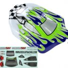 Redcat Racing 66002 1/10 Buggy Body Purple, Green, and White Flame