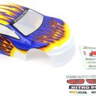 Redcat Racing 1/10 200mm Onroad Car Body White Orange and Blue 01018