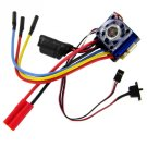 Redcat Racing E186 Brushless ESC (7.4v-11.1v, 60A) with Banana connector for battery and ESC.