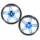 Redcat Racing Anodized Blue Drift Wheels and Tires 07003B