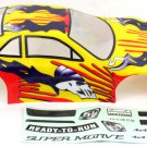 Redcat Racing 1/10 200mm Onroad Body, Yellow Flame  01014