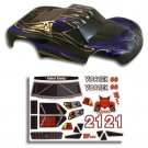 Redcat Racing 55901 1/10 Short Course Truck Body Black and Blue ~