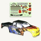 Redcat Racing 50904 1/5 Truck Body Black Flame