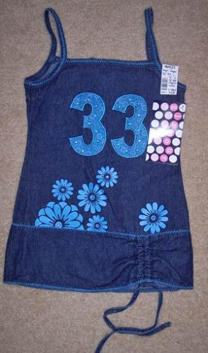 NWT Glamour Girl Fashion Jean Dress Toddler/Girls 2 www.thriftstoretreasure.ecrater.com