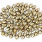 WE SELL QUALITY! 4-5mm DANCING GREEN FRESHWATER PEARLS