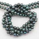 WE SELL QUALITY! 4-5mm EMERALD GREEN FRESHWATER PEARLS