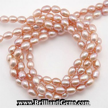 WE SELL QUALITY! 4-5mm ANTIQUE ROSE FRESHWATER PEARLS