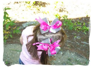 Boutique Style Pigtail Bows
