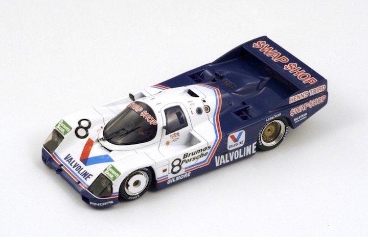Spark Model S0947 Porsche 962 C #8 Valvoline 'Foyt-Wollek-Unser-Boutsen' winner 24 hrs Daytona 1985