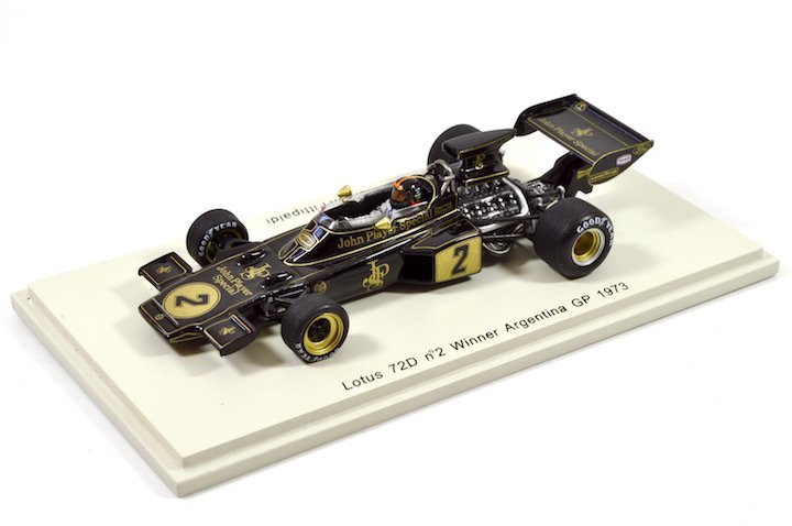 Spark Model S2149 Lotus 72D #2 'Emerson Fittipaldi' Winner GP of Argentina 1973