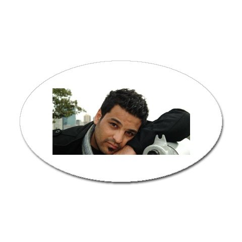 Hussam Al Rassam Sticker (Oval)