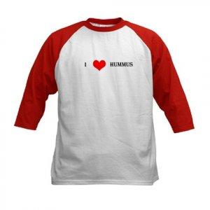 """I Love Hummus"" Kids Baseball Jersey"
