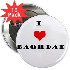 """I love Baghdad"" 2.25"" Button (10 pack)"