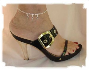 """AMFM001 - Ankle Jewelry with """"MFM"""" Charms"""