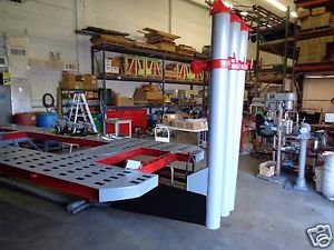 CHIEF AUTO BODY FRAME MACHINE S-21 3 TOWER 21 FEET LONG TRUE 10 TON PULLING