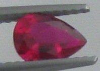 7x5mm (~0.8ct) Pear Shape Burma Ruby